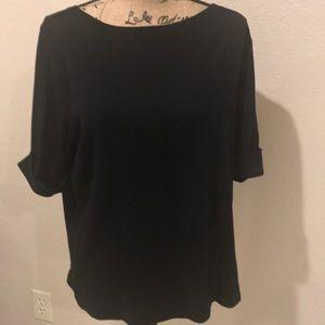Lauren Ralph Lauren basic black topcuffed sleeves